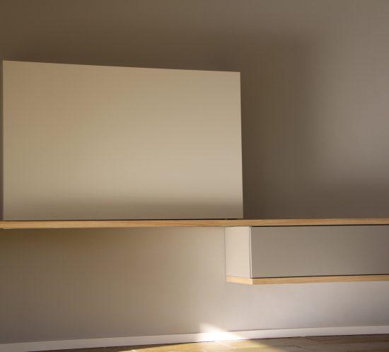 Blokvorm architectuur meubelontwerp tvkast
