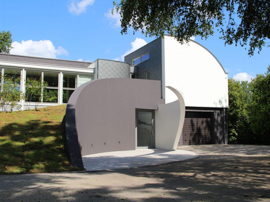 Blokvorm architectuur exterieur ontwerp villa3