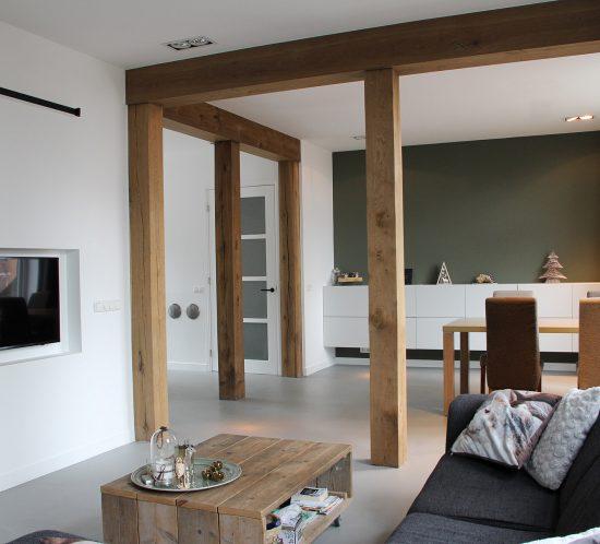 Blokvorm architectuur interieur ontwerp renovatie dijkwoning