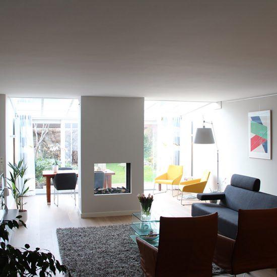 Blokvorm architectuur interieur ontwerp