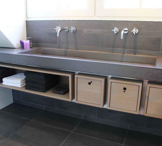 Blokvorm architectuur meubel ontwerp badkamermeubel