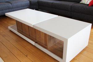 Blokvorm architectuur meubel ontwerp salontafel