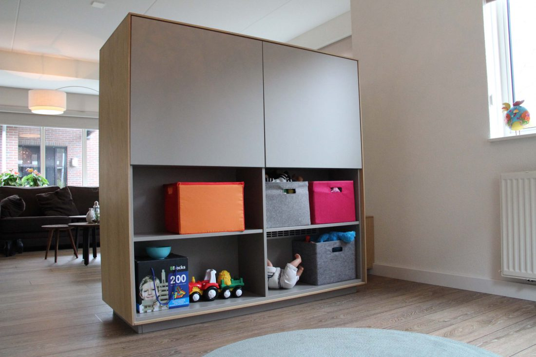 Blokvorm architectuur meubel ontwerp tvmeubel