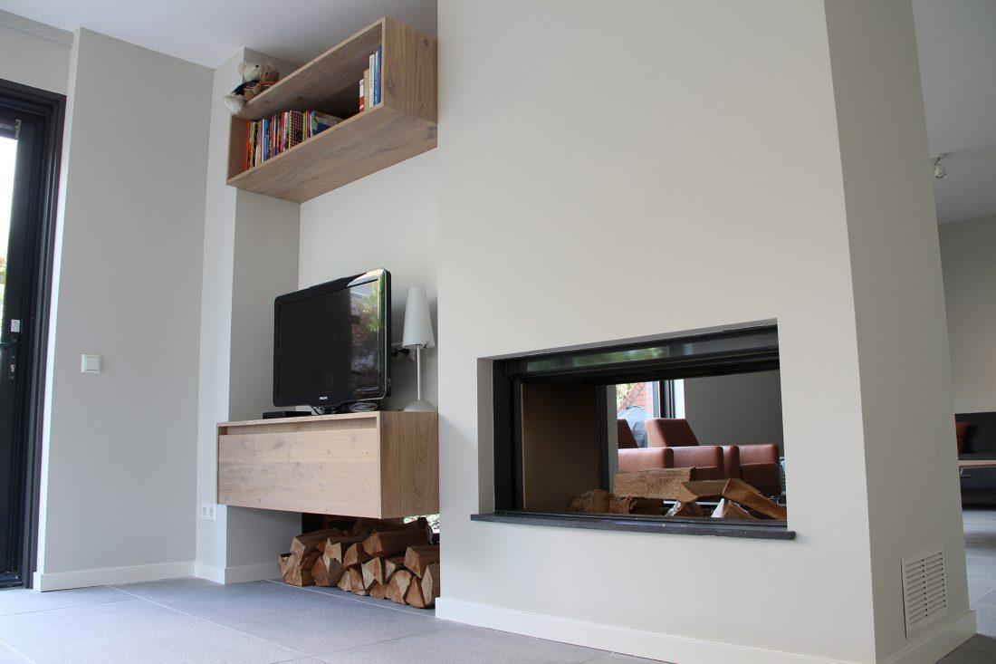 Blokvorm architectuur interieur ontwerp woonhuis